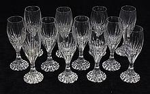 (lot of 12) Baccarat crystal Massena pattern cordials, 5