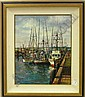 Framed oil on board, Moving Day at the Wharf, by, Filastro Mottola, Click for value