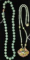 Two Chinese Hardstone Bead Necklaces