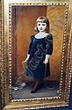 Kate Perugini (1838-1929  Portrait of Dora, daughter of Anderson     Critchett, Frcs., standing full length with a skipping rope,  signed  and dated, Kate Perugini, Click for value
