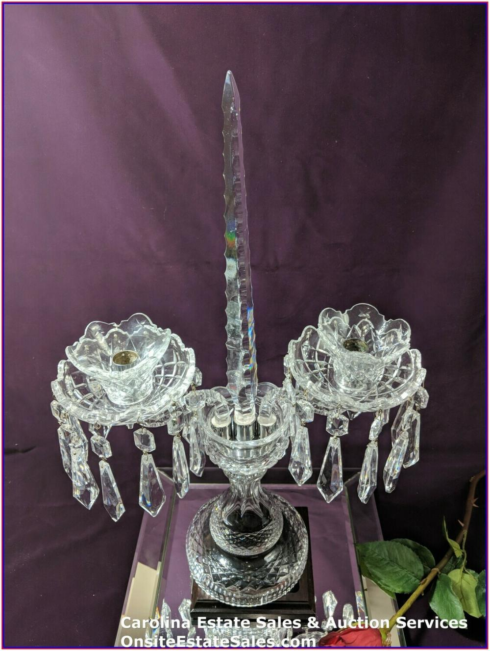 Waterford Crystal Large Type C2 Candelabra Complete