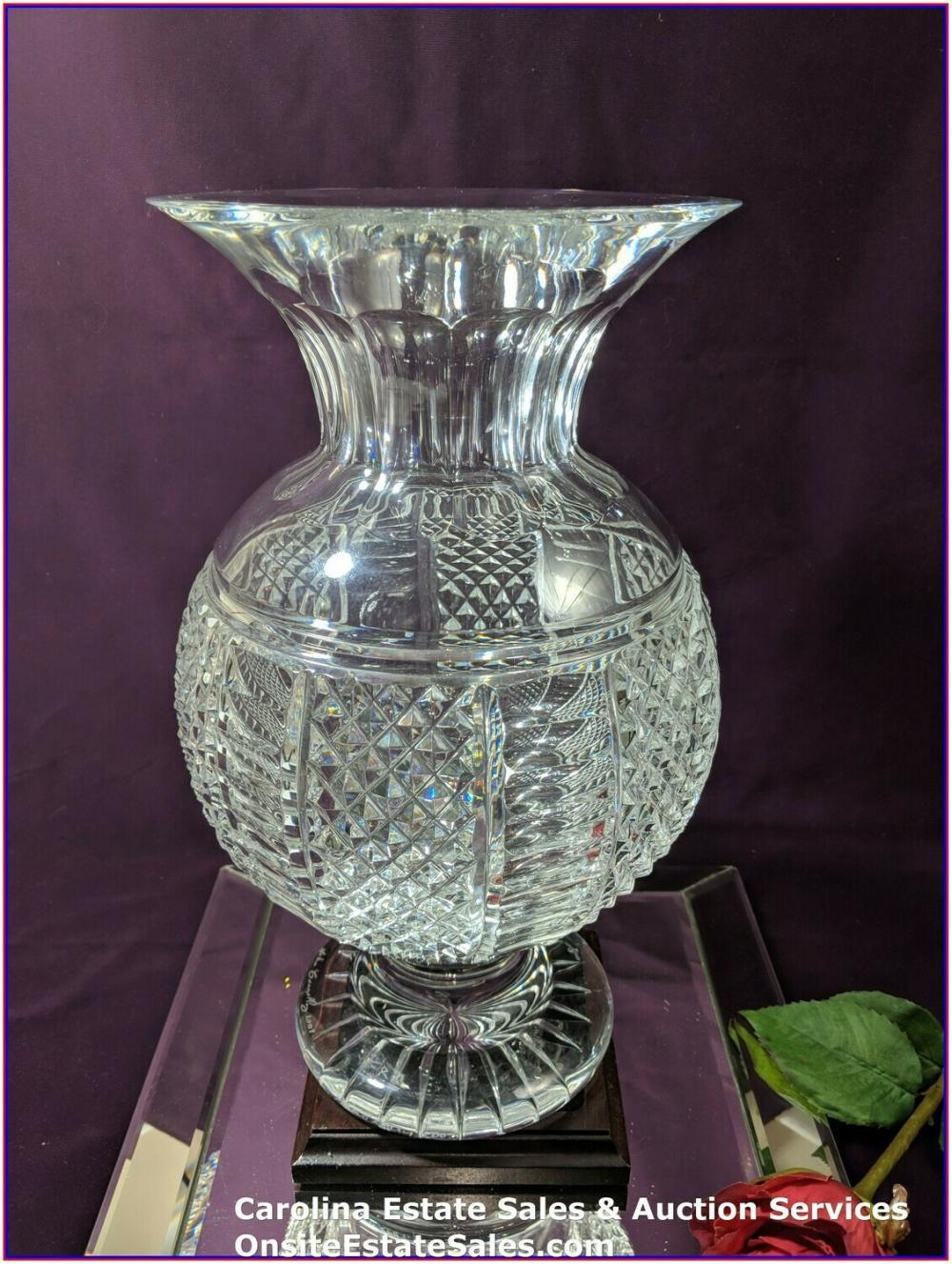 Waterford vase signed by John Connollys