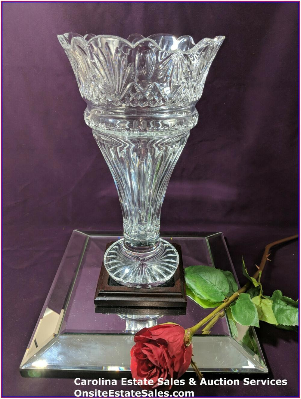 "Waterford Vase with Scallop Opening 12.5"" inches"