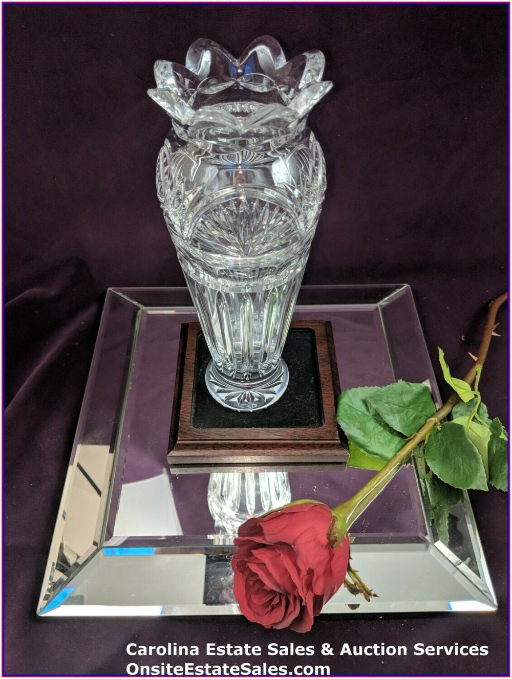 "Waterford Crystal Flower Vase Approx 9.5"" Beautiful"