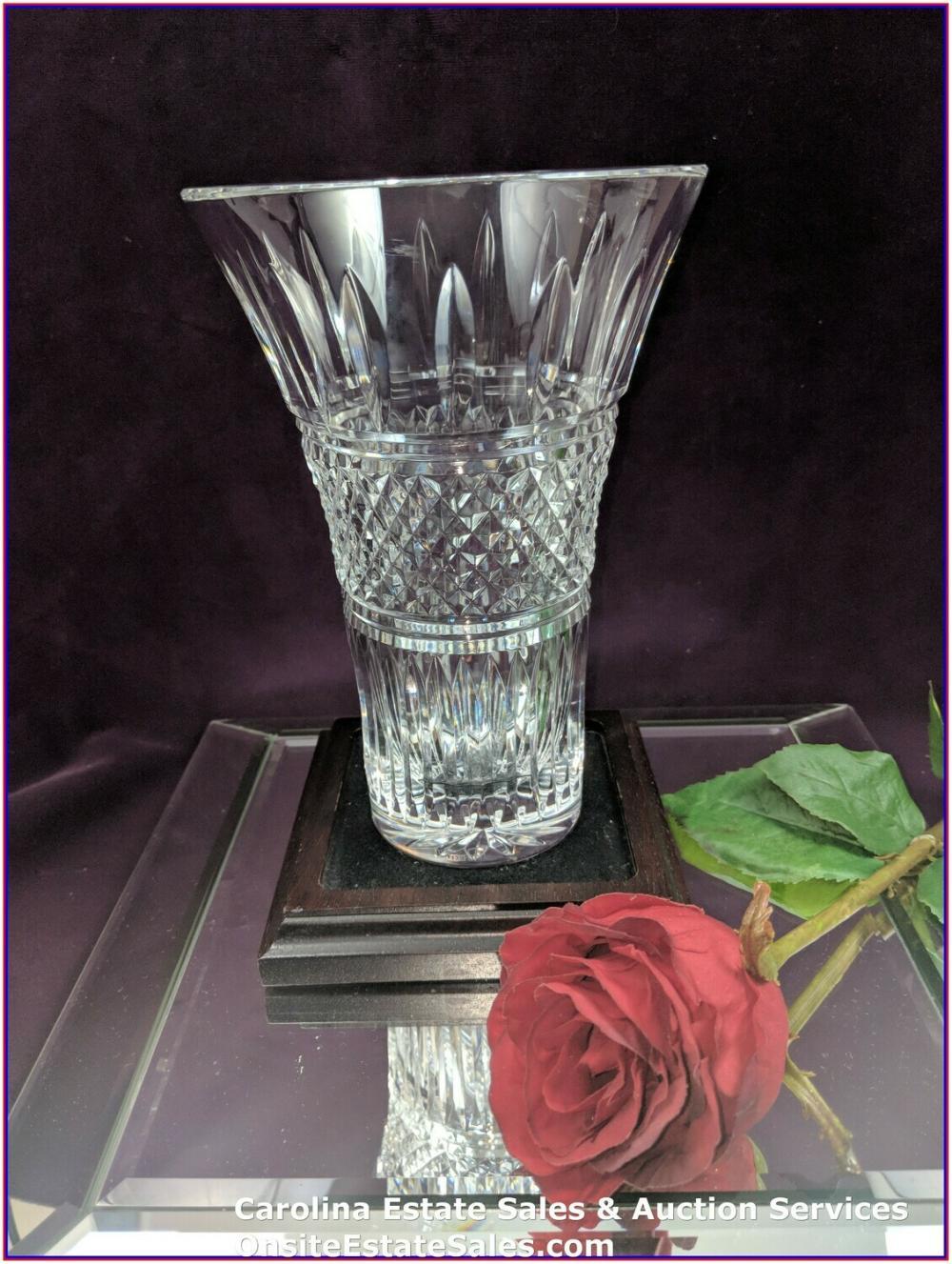 "Waterford Crystal Flower Vase Approx 8"""