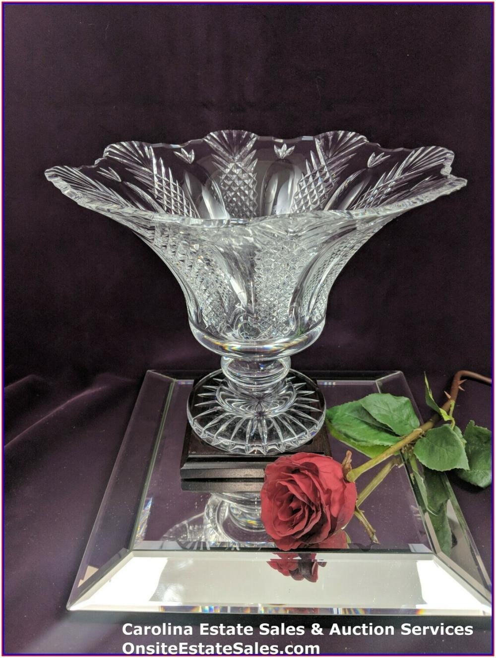 "Large 12"" Waterford Crystal Pedestal Bowl"