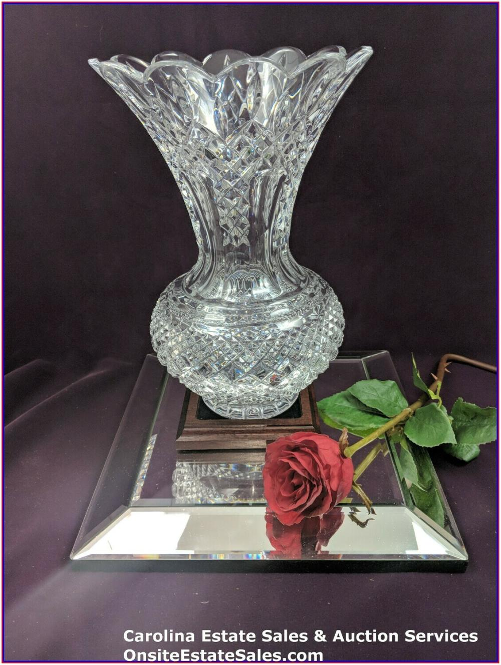 """WATERFORD CRYSTAL Approx 12"""" VASE #18/60 Limited Edition 60th Anniversary Edition"""