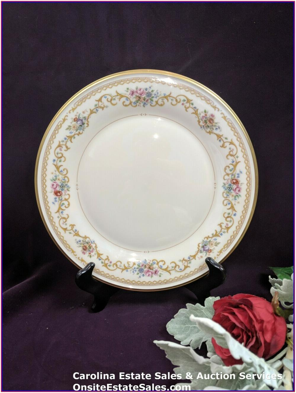 "Beautiful Vintage Lenox China - ""Queens Garden"" - 10 3/4"" Dinner Plate/Qty: 22 Plates -EXCELLENT CONDITION"