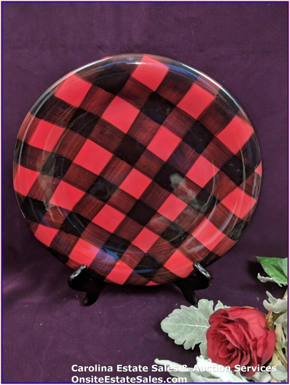 RED BUFFALO PLAID, RALPH LAUREN COBDEN PATTERN, DINNER PLATE QTY:4