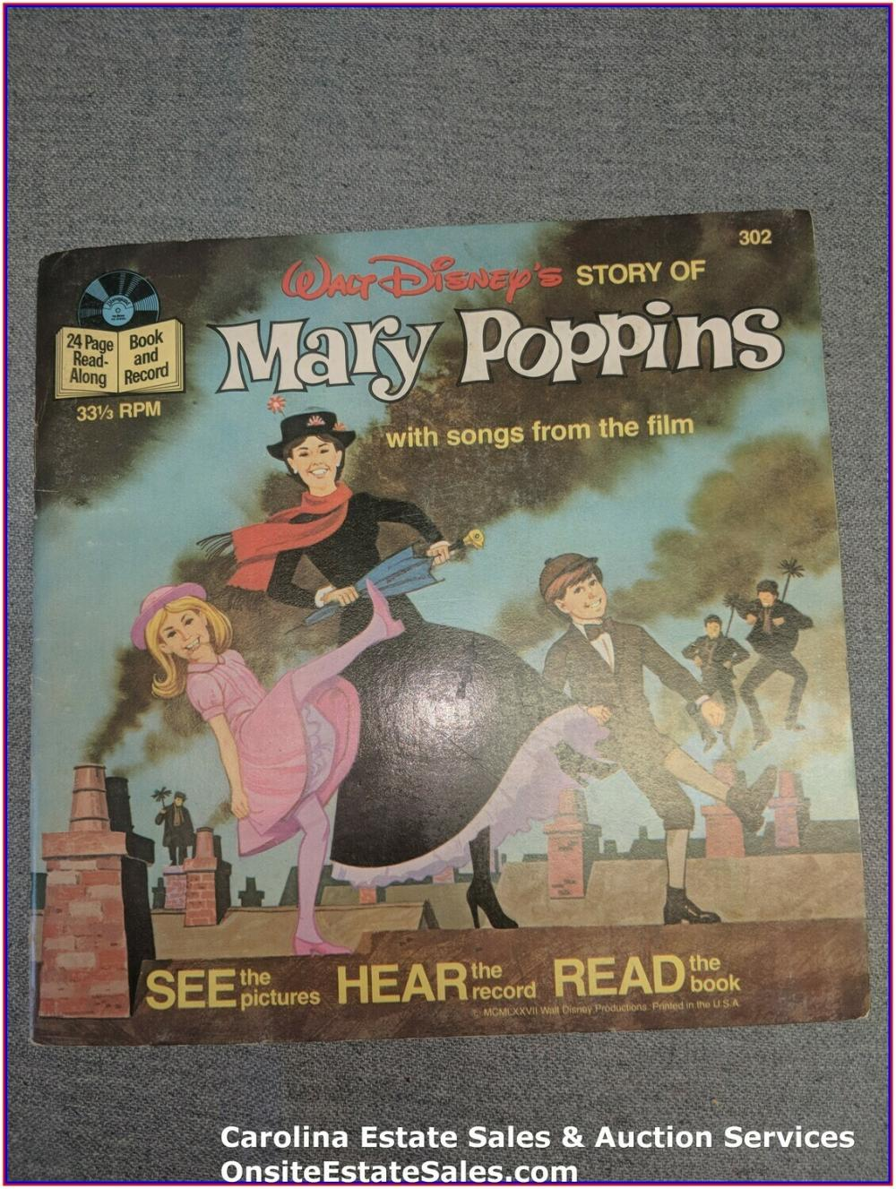Mary Poppins Walt Disney Book & Record