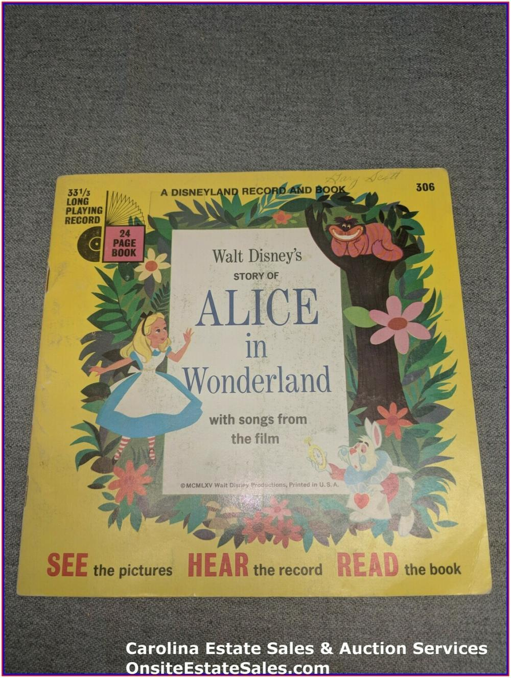 Alice in Wonderland - Walt Disney Book & Record