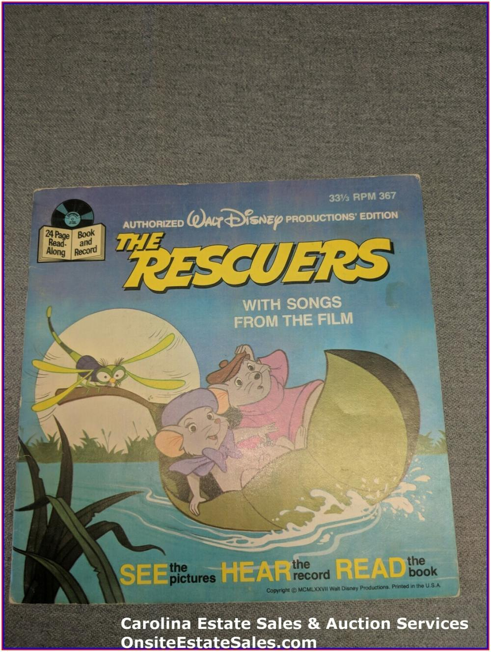 The Rescuers - Walt Disney Book & Record