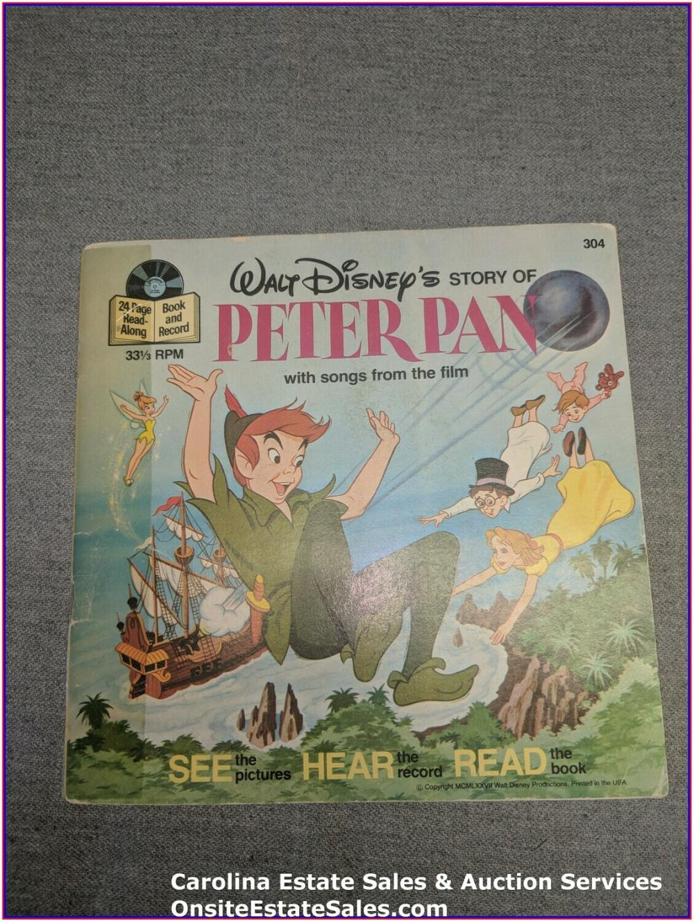 Peter Pan - Walt Disney Book & Record