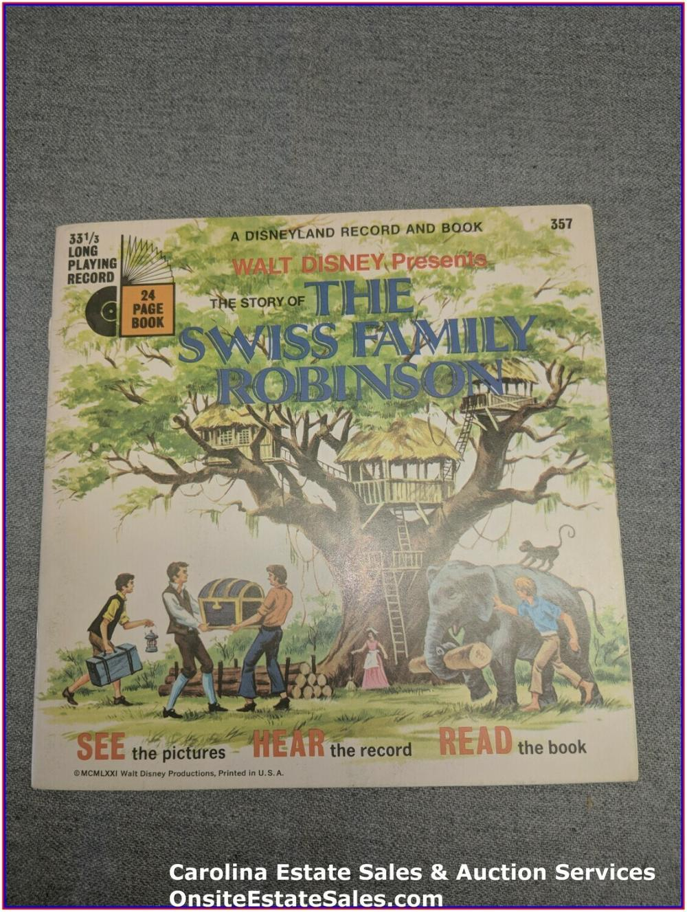 The Swiss Family Robinson - Walt Disney Book & Record