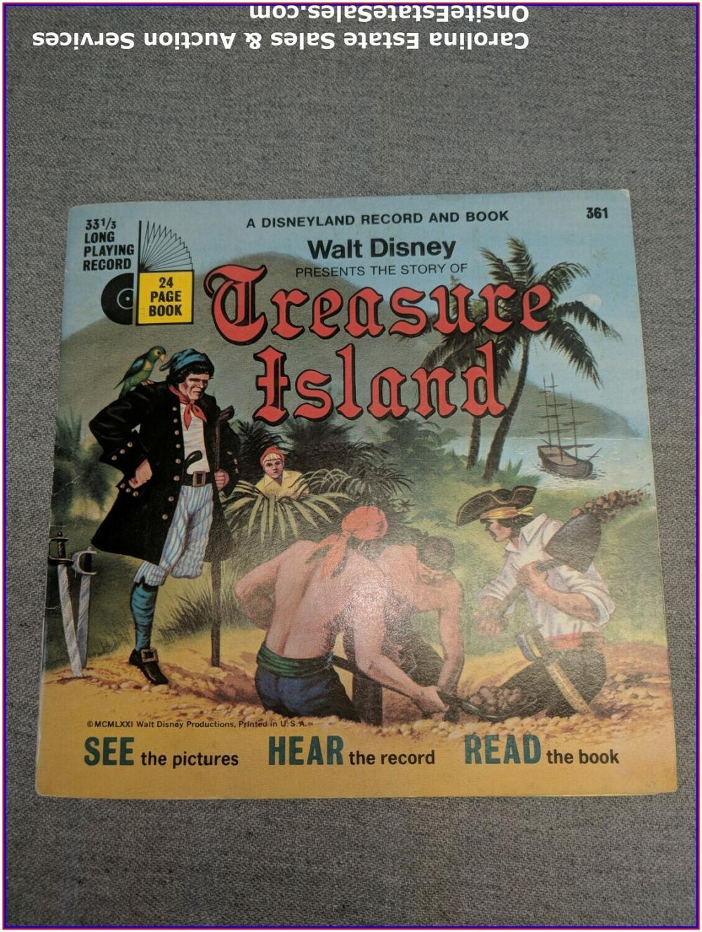 Treasure Island - Walt Disney Book & Record