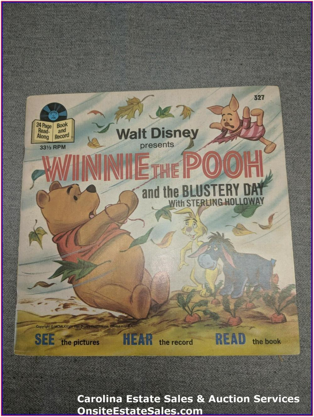 Winnie The Pooh - Walt Disney  Book & Record