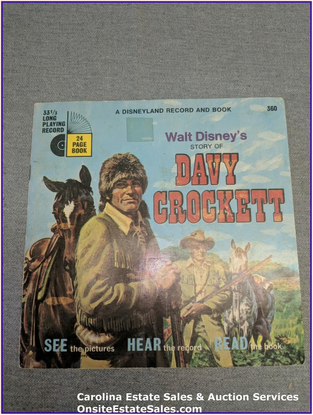 Dave Crockett Book & Record
