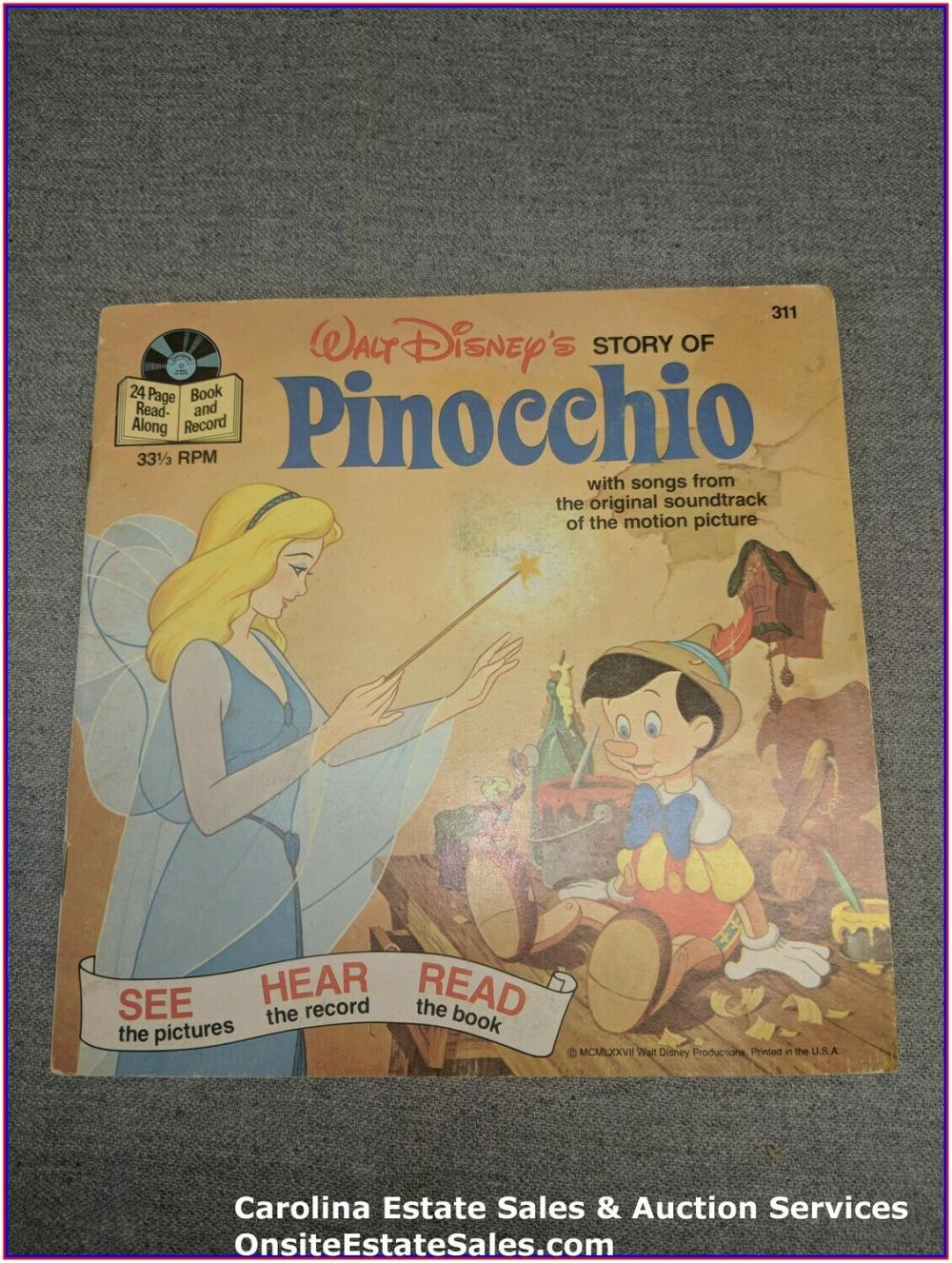 Pinocchio - Disney Book & Record