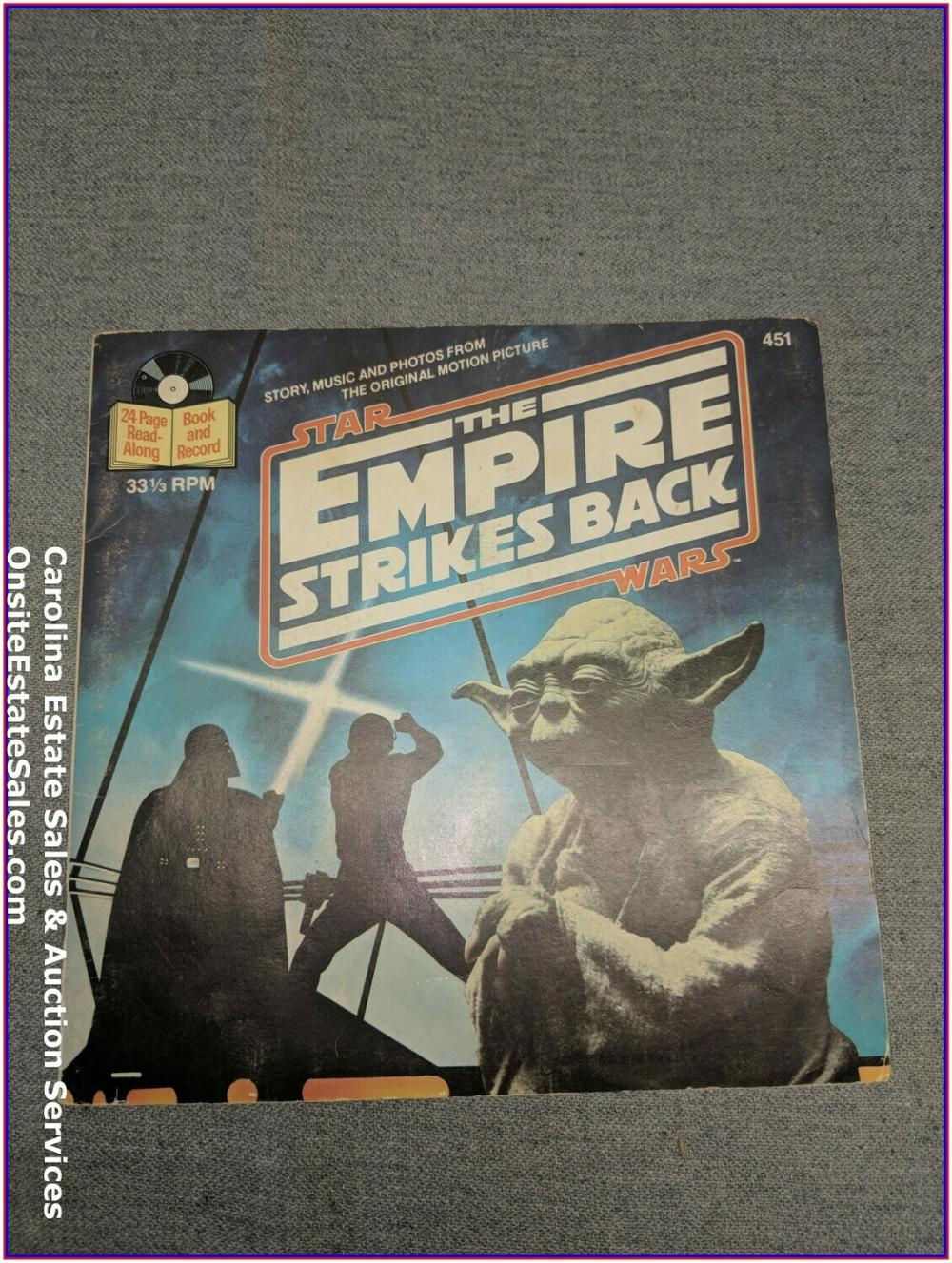 Star Wars The Empire Strikes Back - Book & Record