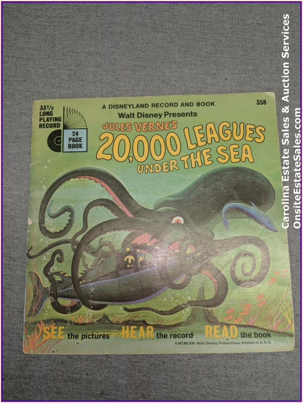 20,000 Leagues under the Sea - Book & Record