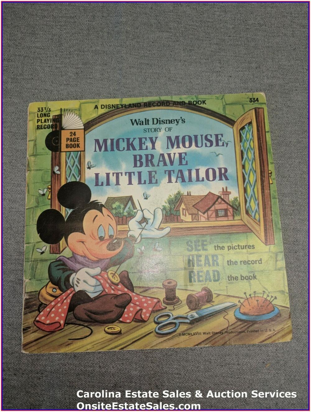 Mickey Mouse Brave Little Tailor - Book & Record