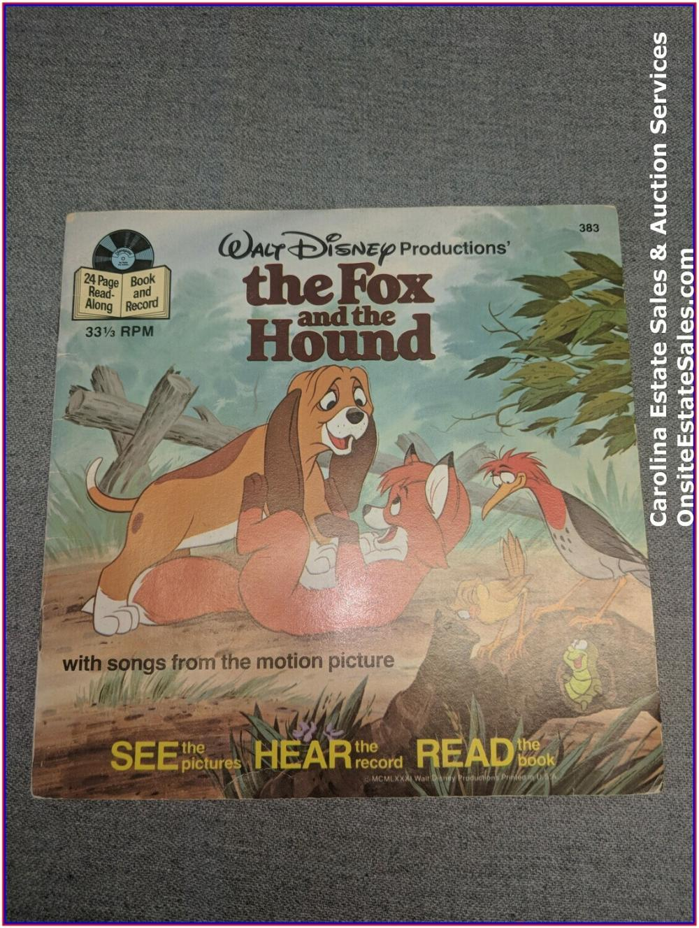The Fox & The Hound - Book & Record