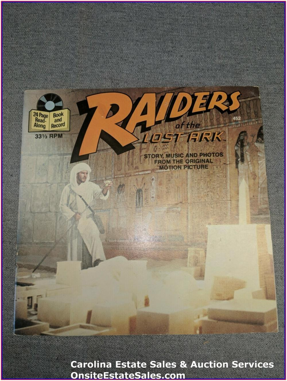 Raiders of the Lost Ark - Read Along Adventures Book & Record
