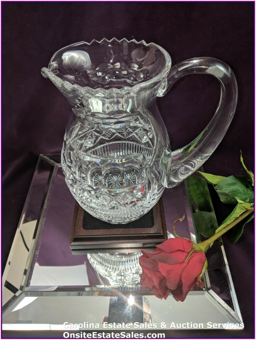 """Waterford Crystal Pitcher """"Rare"""" Signed Museum Collection #22/100 by Jim O'Leary 1994"""