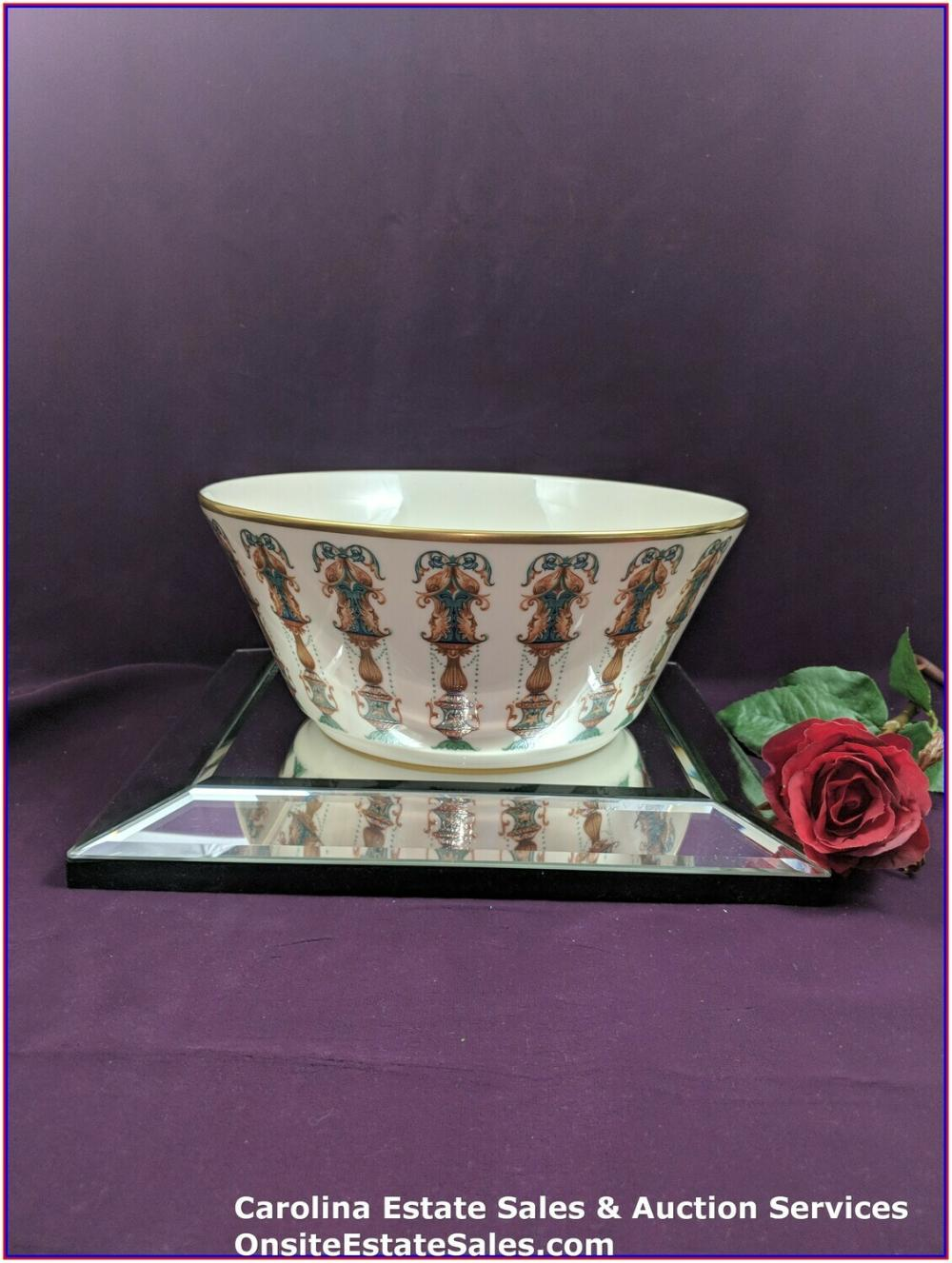 "Lenox Large Salad Serving Bowl ""Lido"" Approx: 10.5 Vintage Collection"