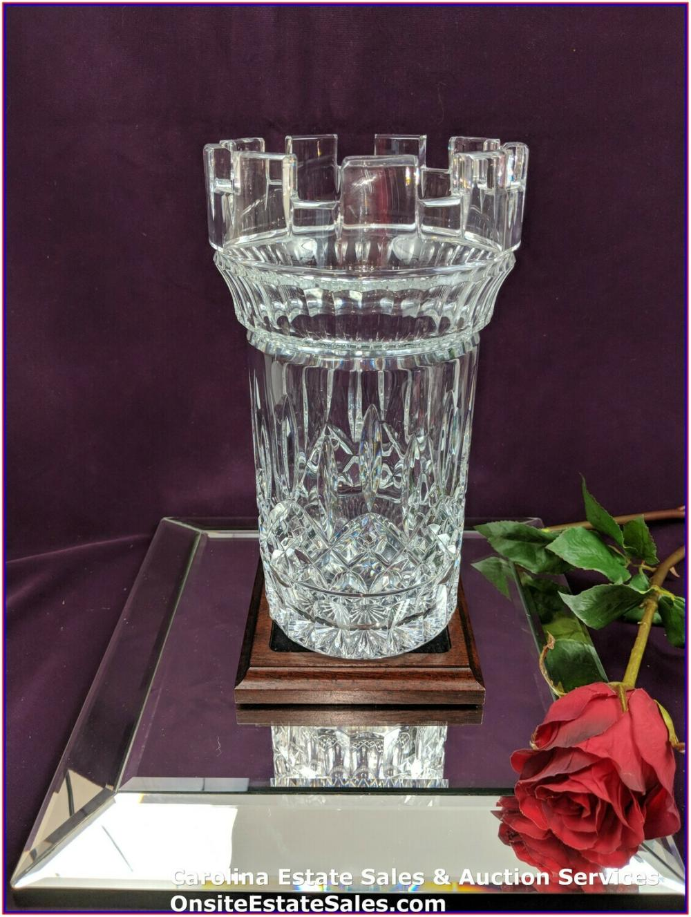 "HOUSE OF WATERFORD ""LISMORE"" CASTLE VASE 10IN"