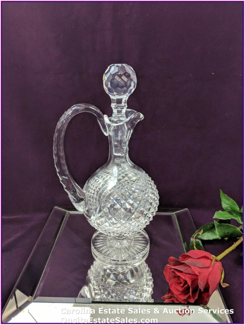 Vintage Waterford Cut Crystal Glass Wine/Liqueur Decanter W/ Stopper