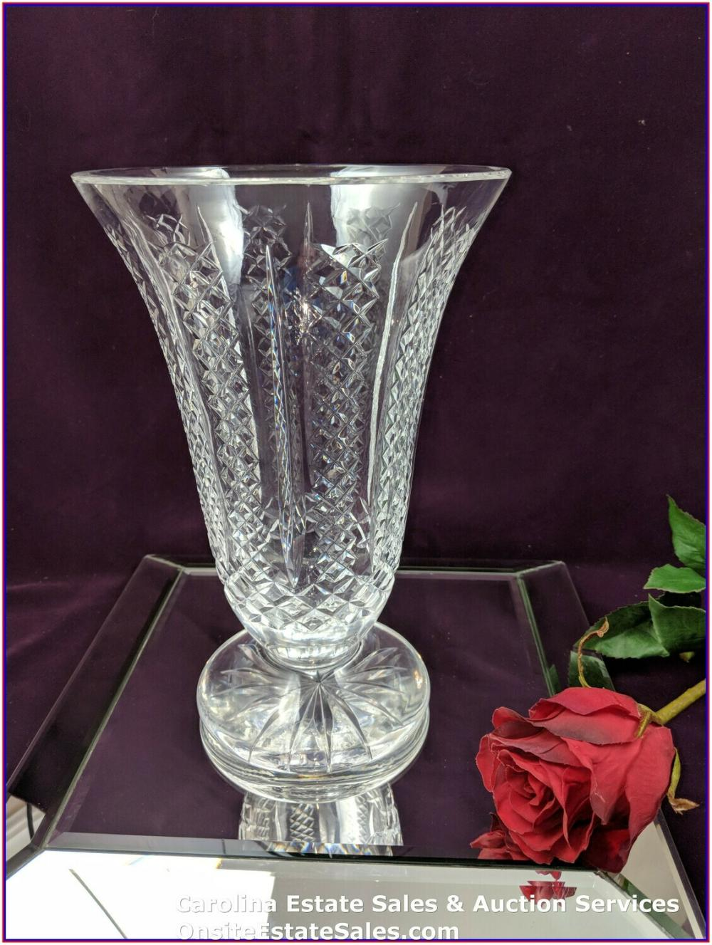 """Rare *VINTAGE* House of Waterford Crystal MASTER CUTTER  Vase 10"""" Approx 10"""" Height"""