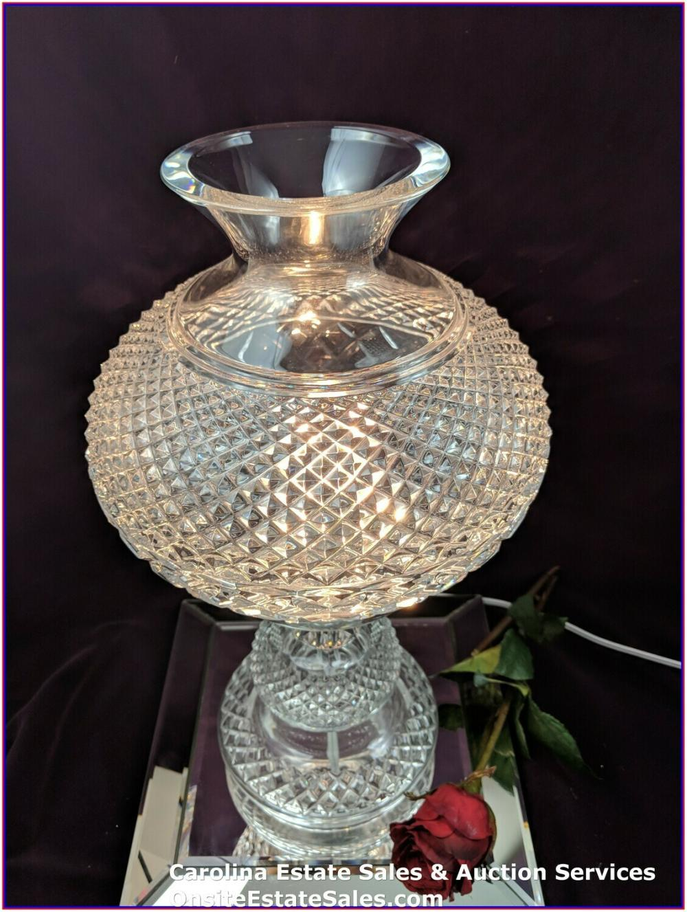 "Vintage Waterford INISHMAAN 2 Piece 18"" Electric Lamp ""Rare"""