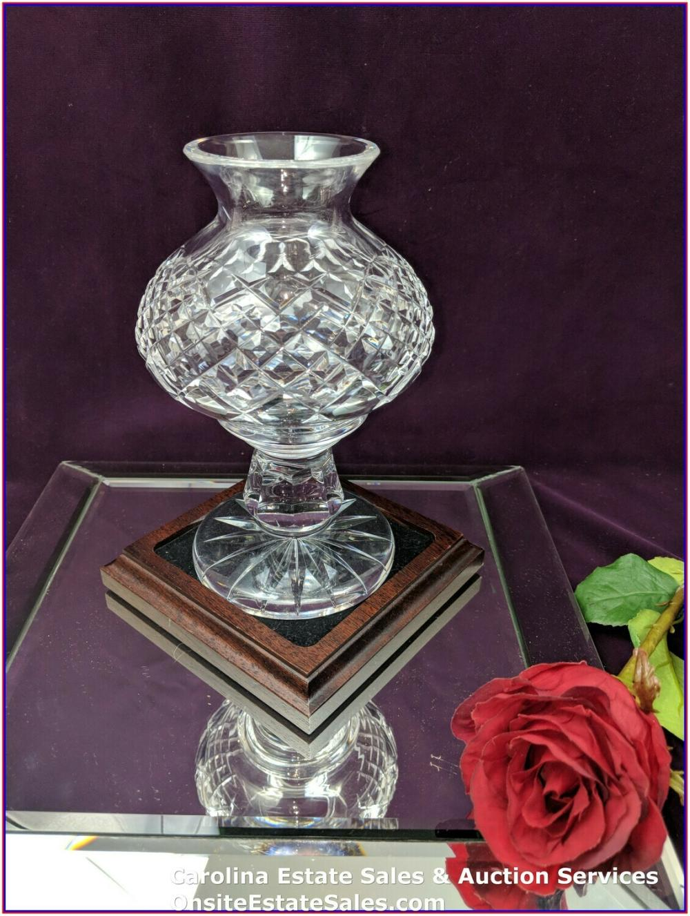 "Waterford Crystal 7.25"" Hurricane Votive Lamp"