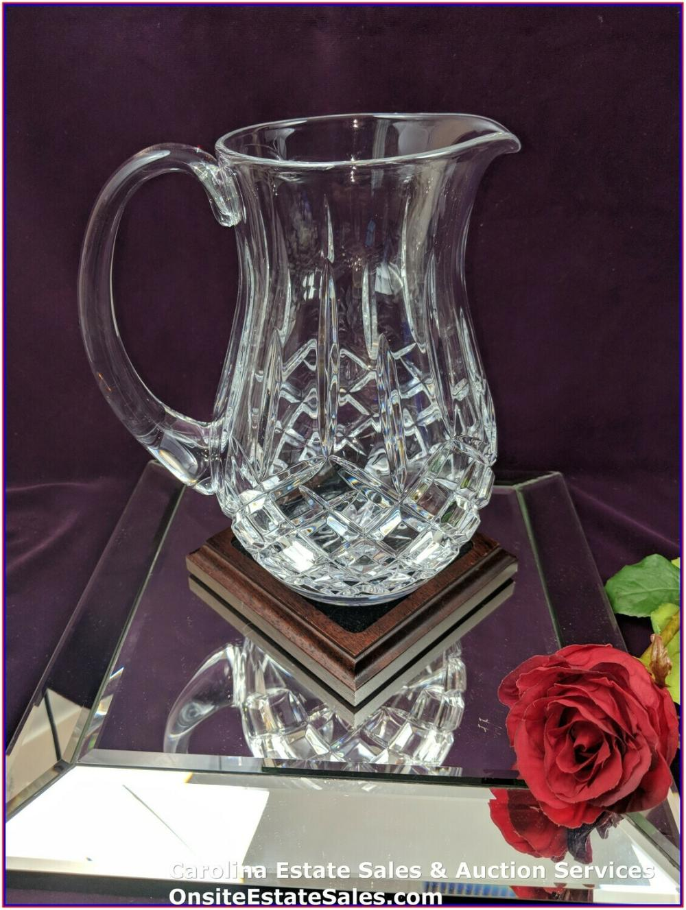 "Waterford Crystal 8.75"" Pitcher - Beautiful / Vintage"