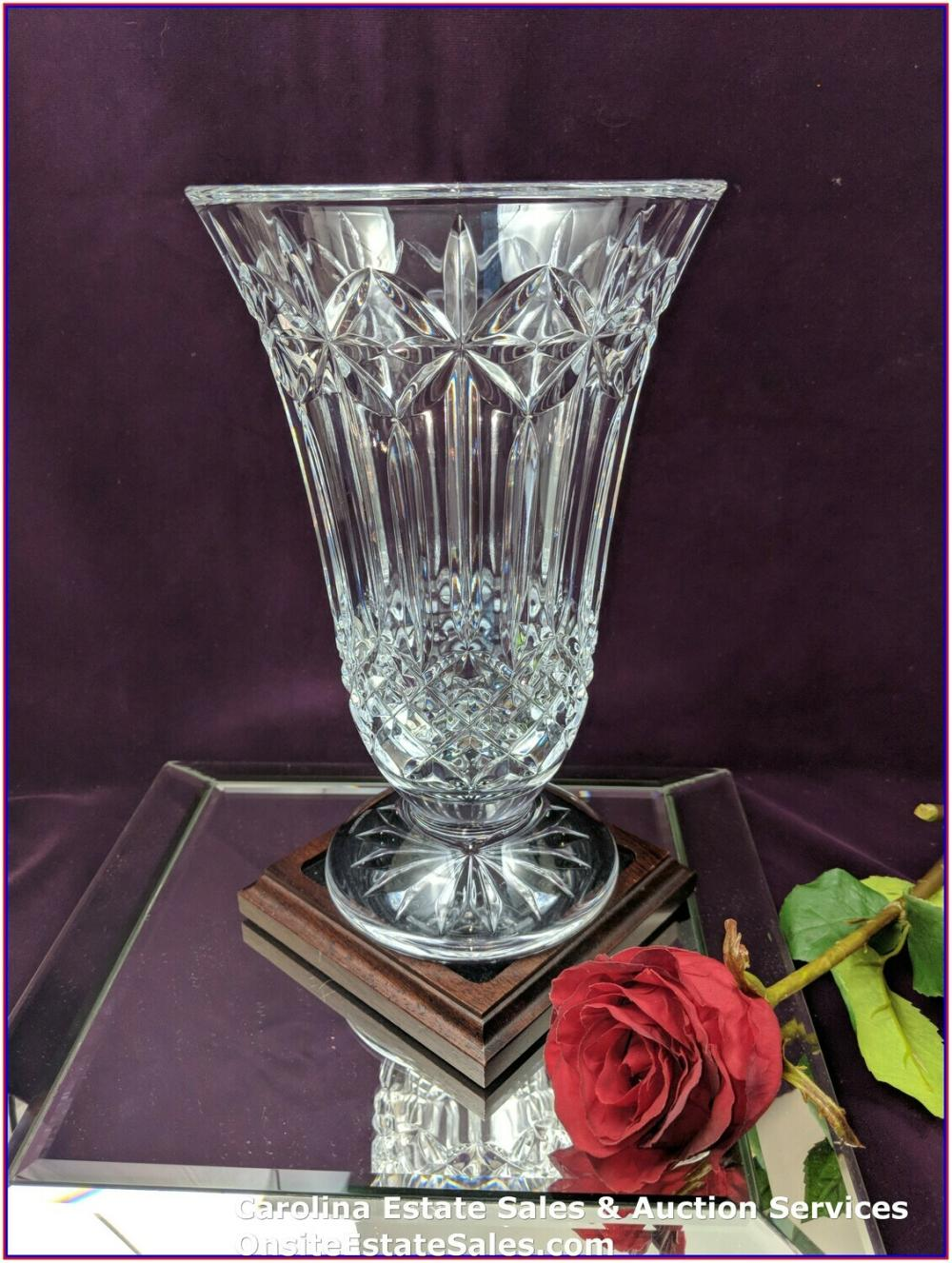 "WATERFORD CRYSTAL BALMORAL 10"" VASE - MADE IN IRELAND"