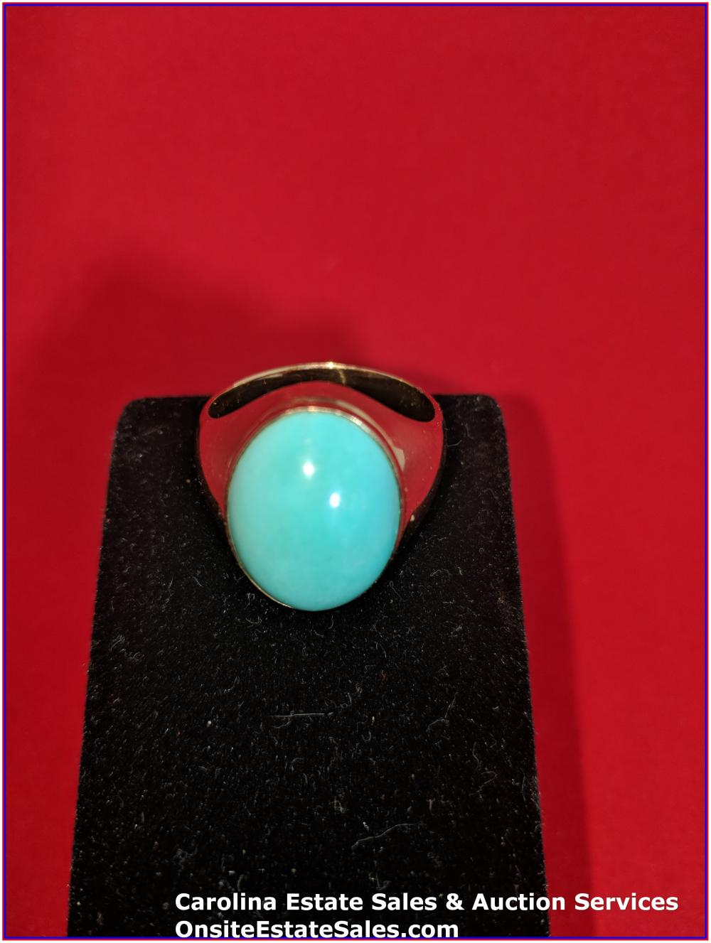 14K Gem Ring Weight 9 Grams