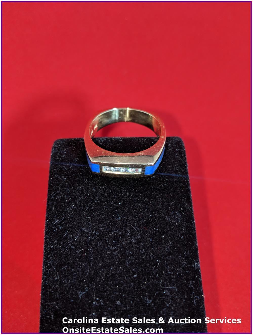 14K Gem Ring Gold 10 Grams Total Weight Includes Stone