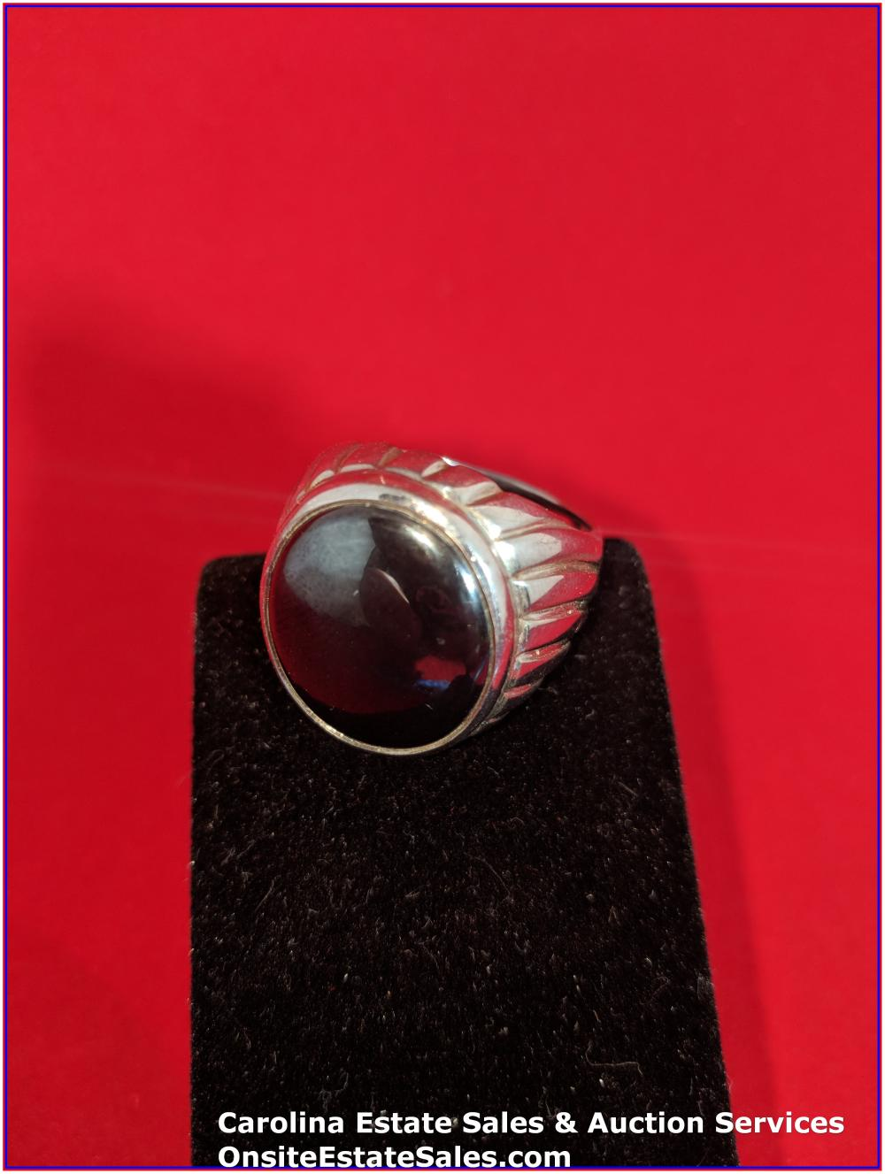 925 Sterling Gem Ring 20 Grams Total Weight Includes Stone