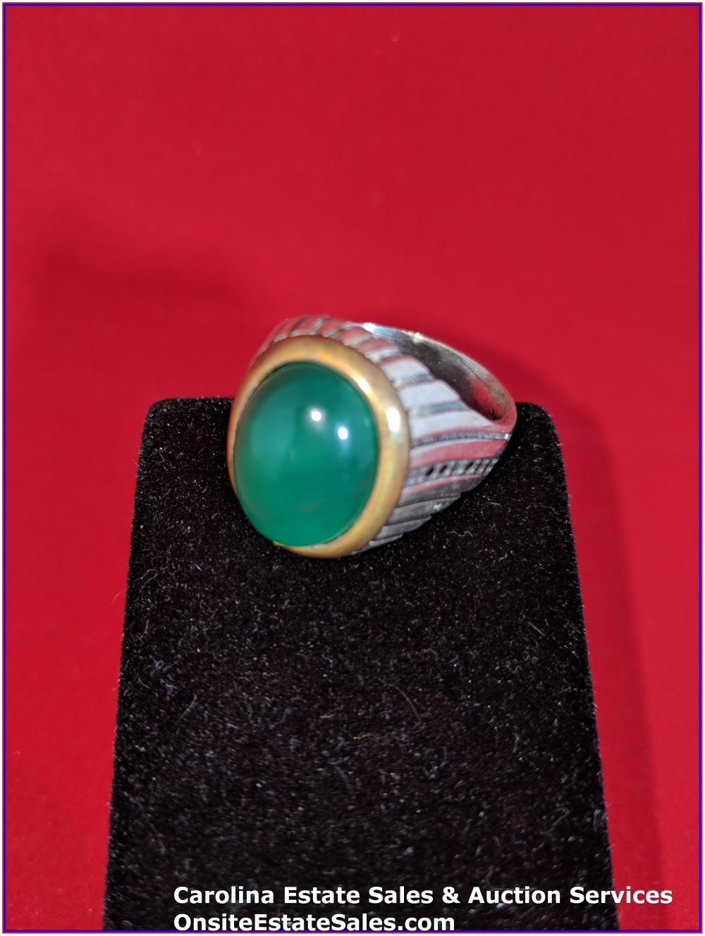 925 Sterling Gem Ring 11 Grams Total Weight Includes Stone