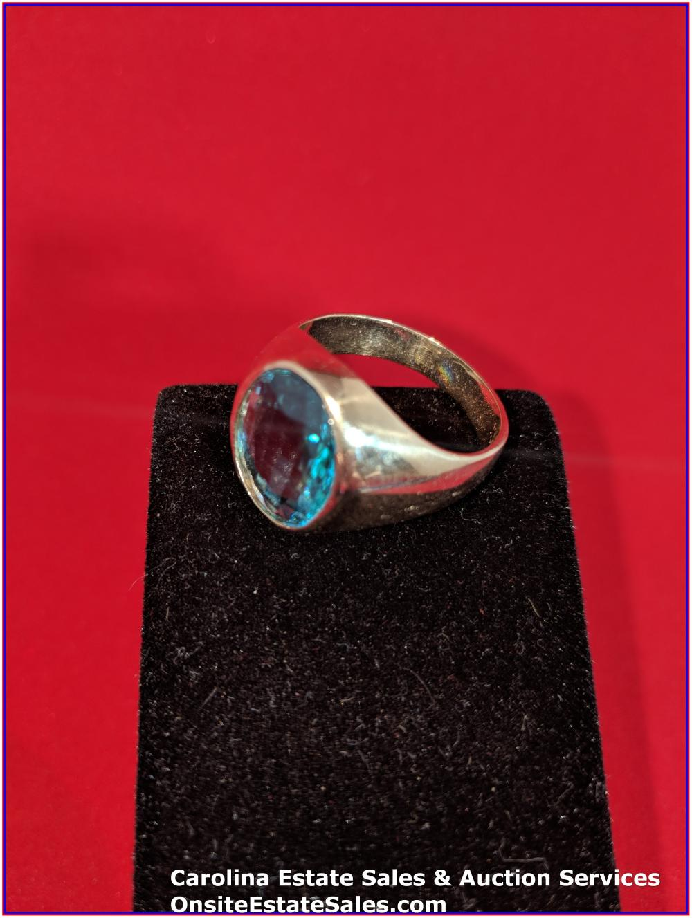 10K Gem Ring Gold 9 Grams Total Weight Includes Stone