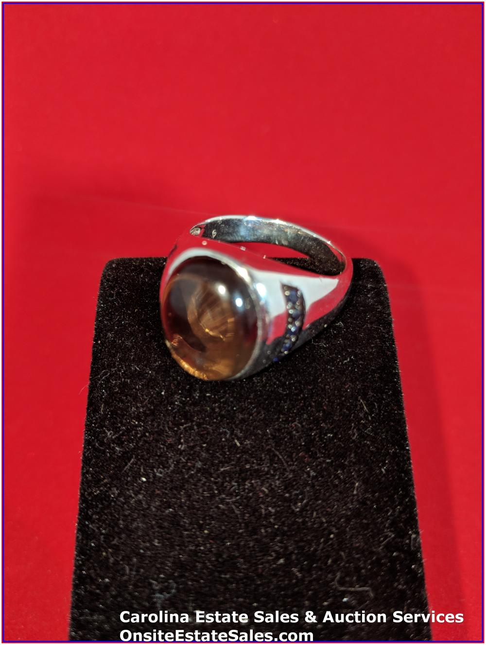 925 Gem Sterling Ring 9 Grams Total Weight Includes Stone