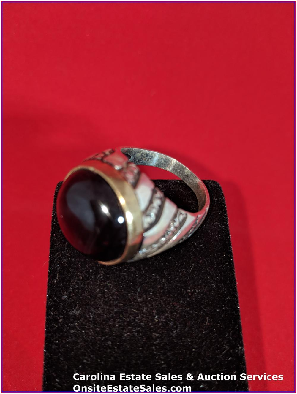 925 Gem Ring Sterling 16 Grams Total Weight Includes Stone