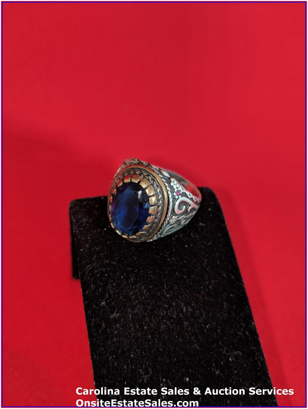 925 Gem Ring Sterling 12 Grams Total Weight Includes Stone