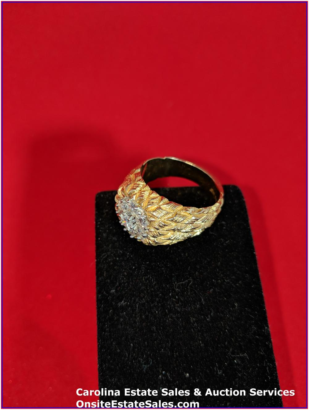 14K Gem Ring Gold 14 Grams Total Weight Includes Stone
