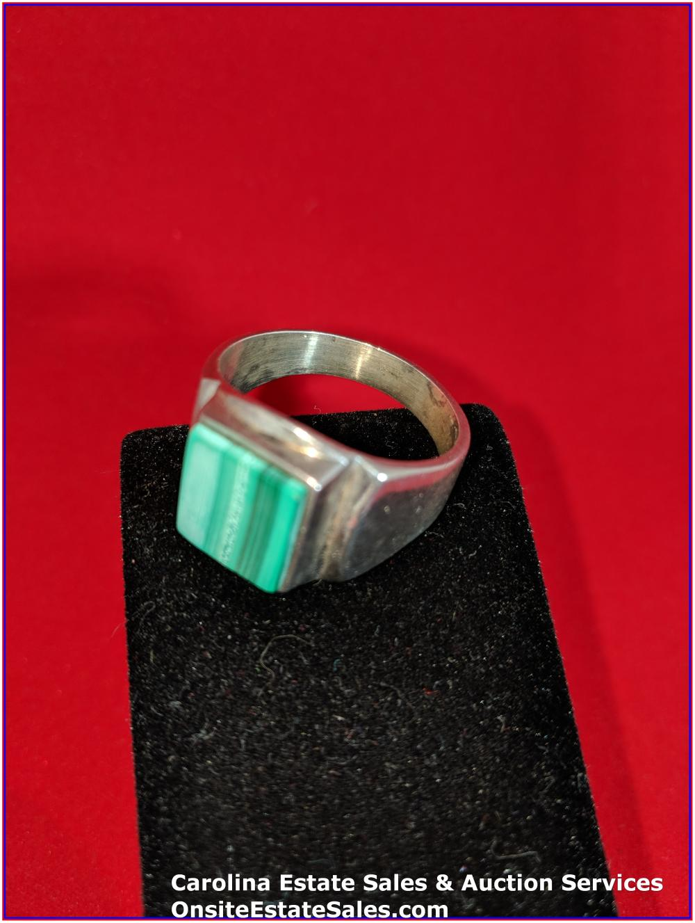 925 Gem Ring Sterling 13 Grams Total Weight Includes Stone