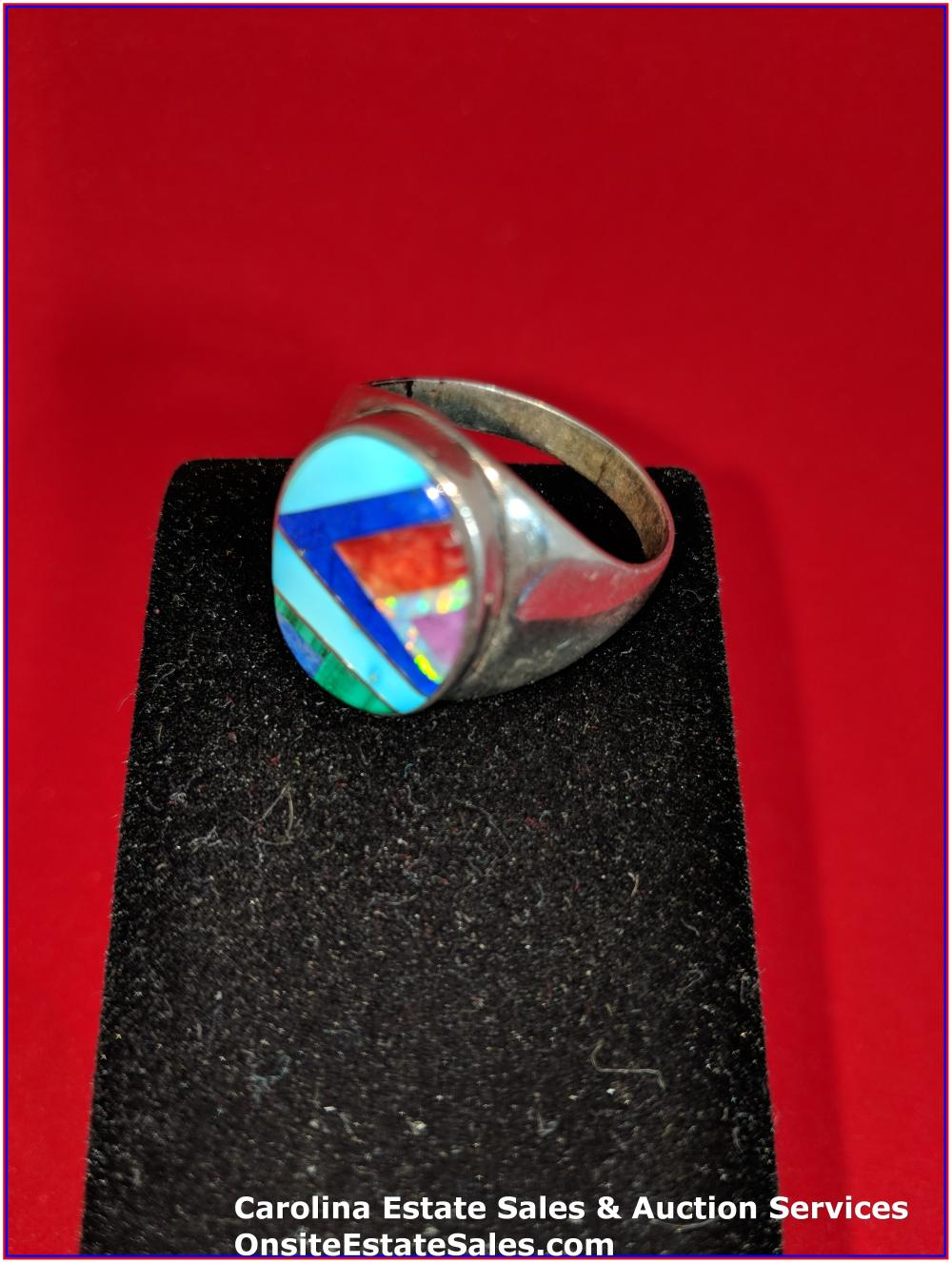 925 Gem Ring Sterling 10 Grams Total Weight Includes Stone
