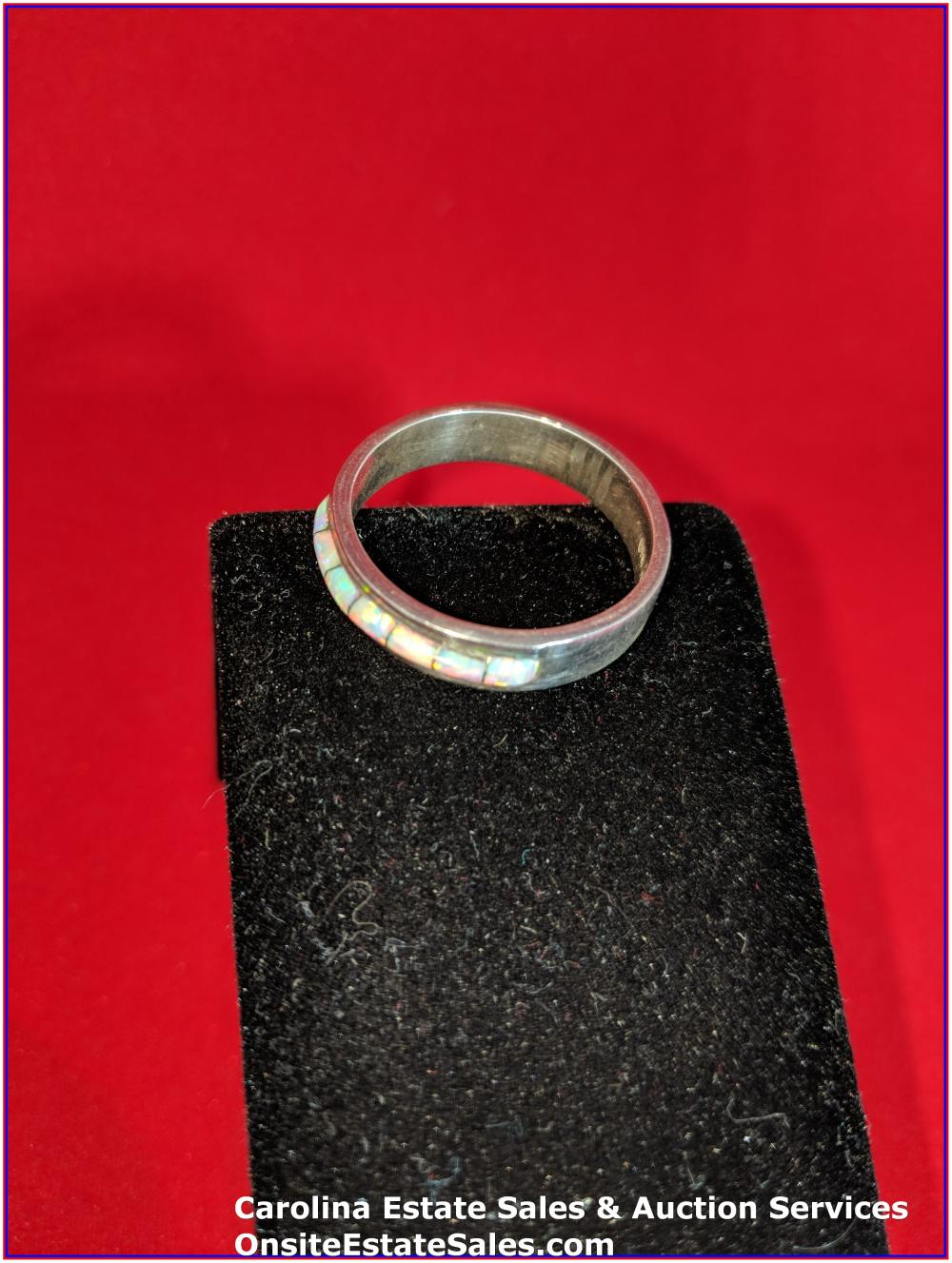925 Gem Ring Sterling 4 Grams Total Weight Includes Stone