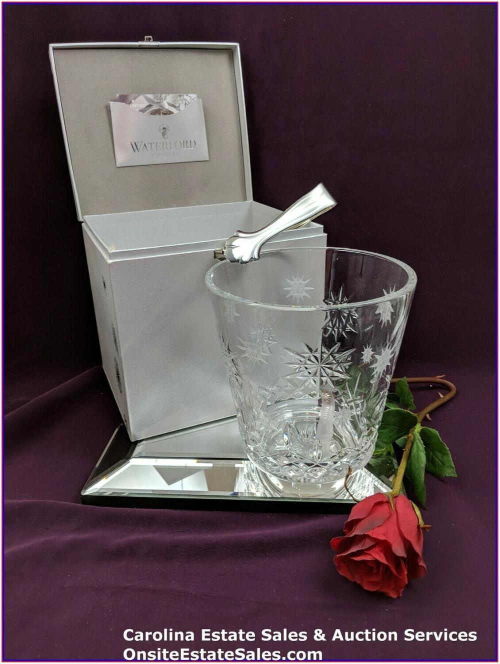Waterford Crystal 2011 Snowflake Wish for Joy Ice Bucket 1st Ed. Lismore Cut with Box