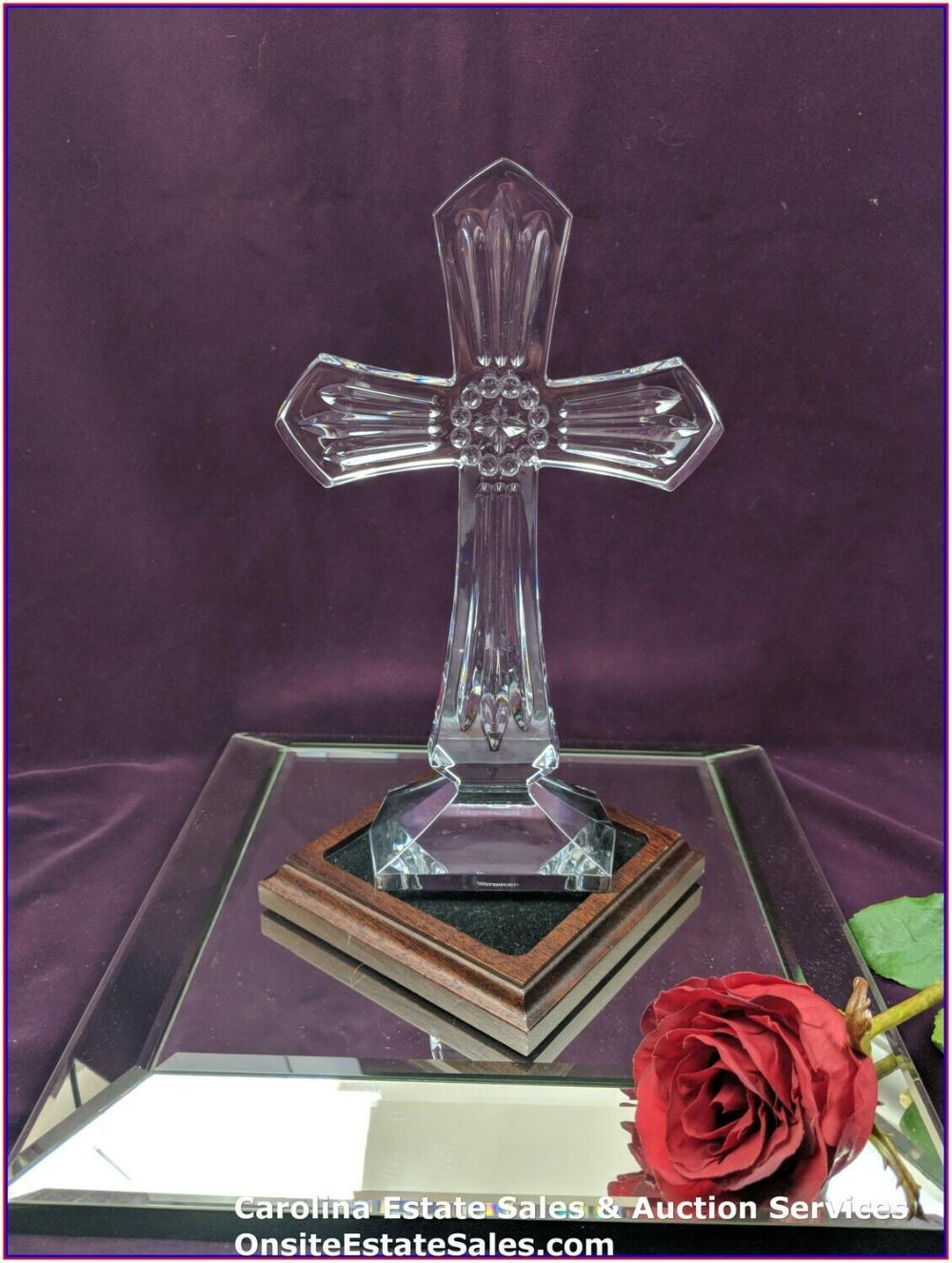 """Waterford Crystal 9"""" Cross Vintage / Beautiful"""